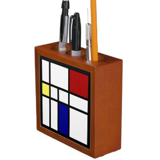Mondrian Geïnspireerd Ontwerp Pennenhouder