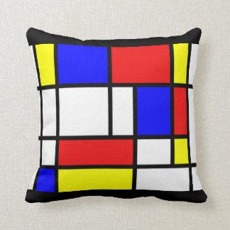 Mondrian - het Primaire Hoofdkussen van Kleuren Sierkussen