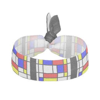 Mondrian - het Primaire Stropdas van het Haar van Haarelastiekje