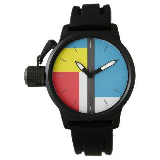 MONDRIAN HULDE | abstract origineel ontwerp Horloge