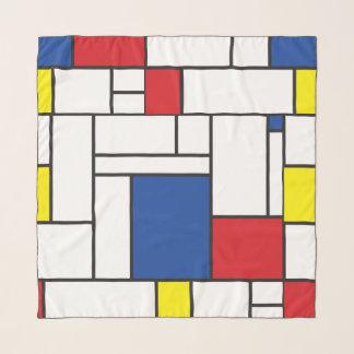 Mondrian Minimalist DE Stijl Colorful Modern Art. Sjaal