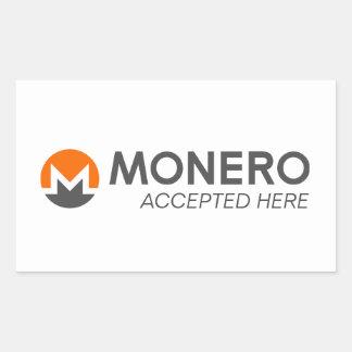 Monero keurde hier de Stickers van de Rechthoek
