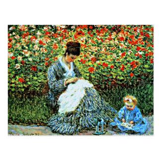 Monet - Camille Monet en Kind Briefkaart