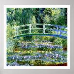 Monet - de Vijver van de Waterlelie & Japanse Brug Poster