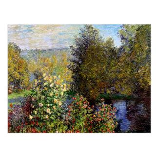 Monet - een Hoek van de Tuin in Montgeron Briefkaart