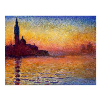 Monet - San Giorgio Maggiore bij Schemer Briefkaart