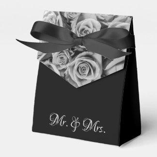 Monochromatische Rozen M. Mrs Wedding Tent Favor Bedankdoosjes