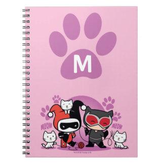 Monogram Chibi Harley Quinn & Catwoman met Katten Notitieboek