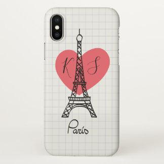 Monogram. De hand Getrokken Toren van Parijs