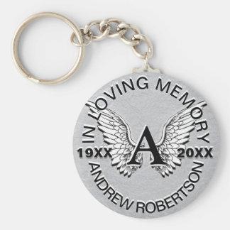 Monogram   de Herdenkings   Zilveren Vleugels van Sleutelhanger