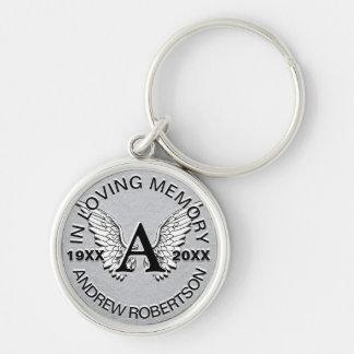 Monogram | de Herdenkings | Zilveren Vleugels van Sleutelhanger