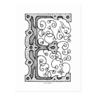 Monogram E Briefkaart