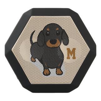 Monogram. Grappige Leuk Weinig Hond van het Puppy. Zwarte Bluetooth Speaker