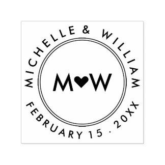 Monogram & Hart | Huwelijk Zelfinktende Stempel