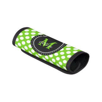 Monogram | het Groene Witte Patroon van Stippen Handvat Beschermer