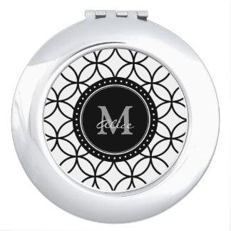Monogram | Klassieke Witte Zwarte Abstracte Makeup Spiegels