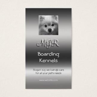 Monogram, Leuk Pomeranian Puppy, metaal-gevolg Visitekaartjes