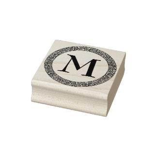 Monogram met Dikke Versierd Decoratieve Grens Rubberenstempel