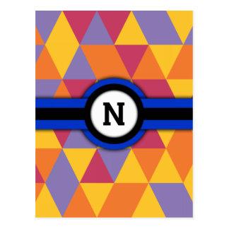 Monogram N Briefkaart