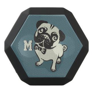 Monogram. Pug van de heer met een Leuke Bowtie. Zwarte Bluetooth Speaker