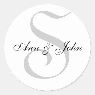 Monogram S plus de Stickers van Voornamen voor