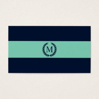 Monogram van de marineblauwe & Streep van de