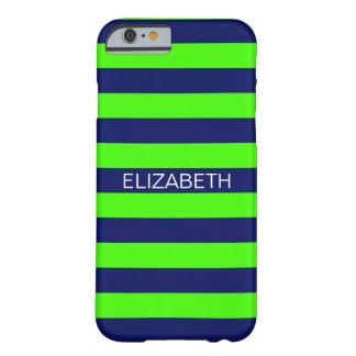 Monogram van de Naam van de Streep Horiz van het Barely There iPhone 6 Hoesje