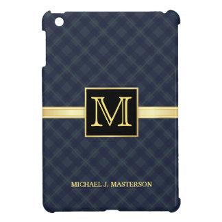 Monogram van de Plaid van het mannen het Blauwe iP iPad Mini Case