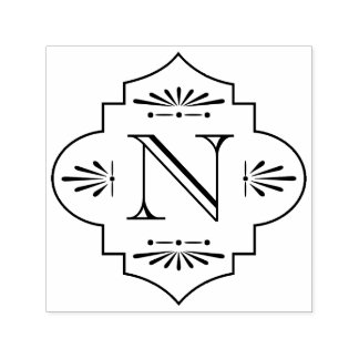 Monogram | van Deco Zelfinktende Stempel