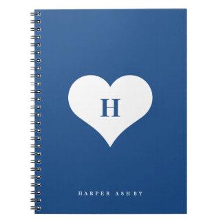 Monogram | van het hart Spiraal - verbindend Ringband Notitieboek