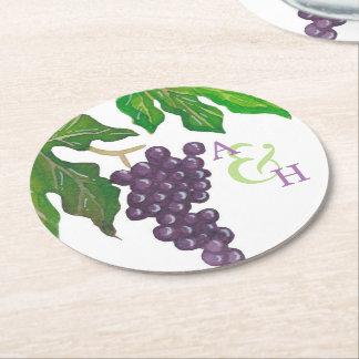 Monogram van het Paar van de Druiven van de Partij Ronde Onderzetter
