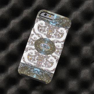 Monogram van Veyla van het damast het Barokke Tough iPhone 6 Hoesje