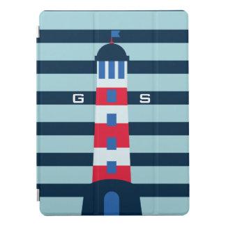 Monogram. Zeevaart. Licht Huis iPad Pro Cover