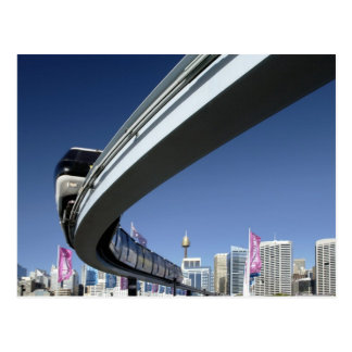 Monorail in de Haven van de Schat, Sydney, Briefkaart