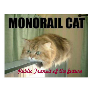 monorailcat briefkaart