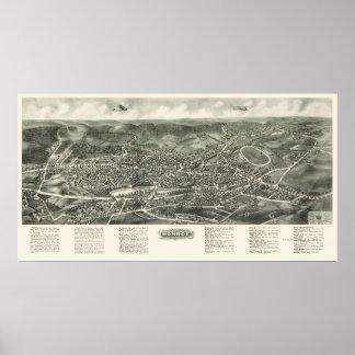 Monroe, NY Panoramische Kaart - 1923 Poster
