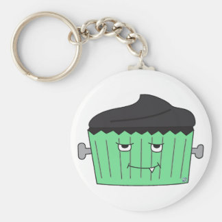 Monster Cupcake Keychain Basic Ronde Button Sleutelhanger