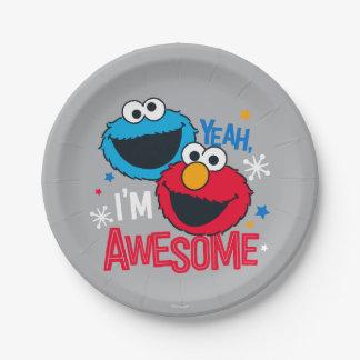 Monster & Elmo | van het koekje ja, ben ik Papieren Bordje
