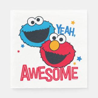 Monster & Elmo | van het koekje ja, ben ik Papieren Servet