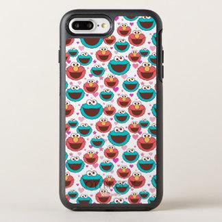 Monster | van Elmo & van het Koekje het Patroon OtterBox Symmetry iPhone 8 Plus / 7 Plus Hoesje