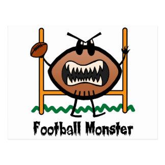 Monster van het Football van de Kunst van de Klem Briefkaart