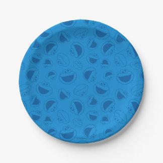 Monster | van het koekje me Geweldige Blauw Papieren Bordje