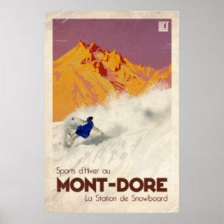 Mont Dore - Vintage Effect Poster