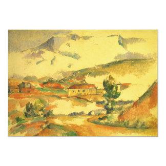 Mont Sainte Victoire door Cezanne, Vintage Fine Uitnodigingen