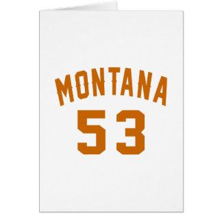Montana 53 Design van de Verjaardag Kaart