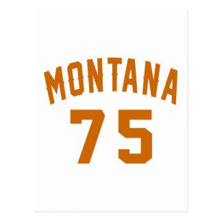 Montana 75 Design van de Verjaardag Briefkaart