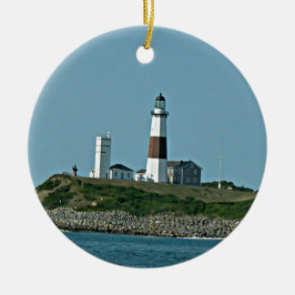 Montauk New York Rond Keramisch Ornament