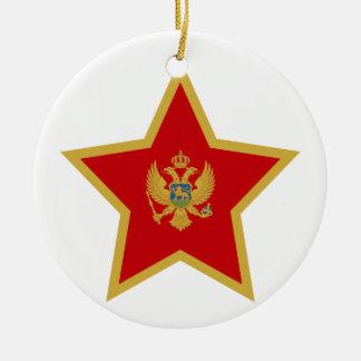 Montenegro Ster Rond Keramisch Ornament