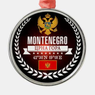 Montenegro Zilverkleurig Rond Ornament