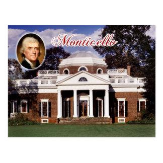 Monticello, het Huis van Jefferson, Virginia Briefkaart